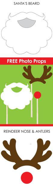 Looking for fun Printable Santa-theme games and activities? Santa Photo Props - Hip Baby || Santa Printables: 10 Fun Games and Activities! || Letters from Santa Holiday Blog