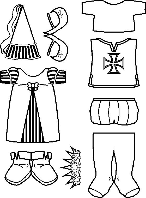 paper doll Medieval Friends clothes for Whipping Boy