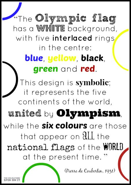 Olympic Rings Activities - The Educators' Spin On It: