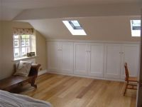 attic angled storage, and laminate flooring | Attic Room ...
