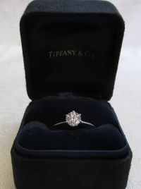 Details about Tiffany and Co Platinum Diamond Engagement ...