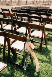 Wooden folding chairs, Outdoor wedding ceremonies and ...