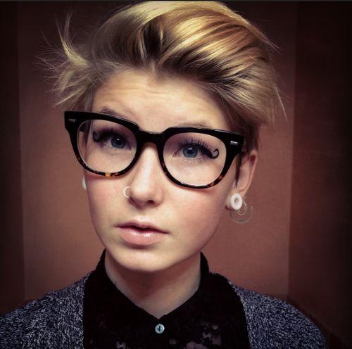 Short Hair With Glasses Google Search Eye Wear Pinterest