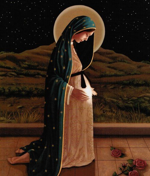 Our Lady of Guadalupe - notice the light in her belly - this is one of my favorites, for Advent.