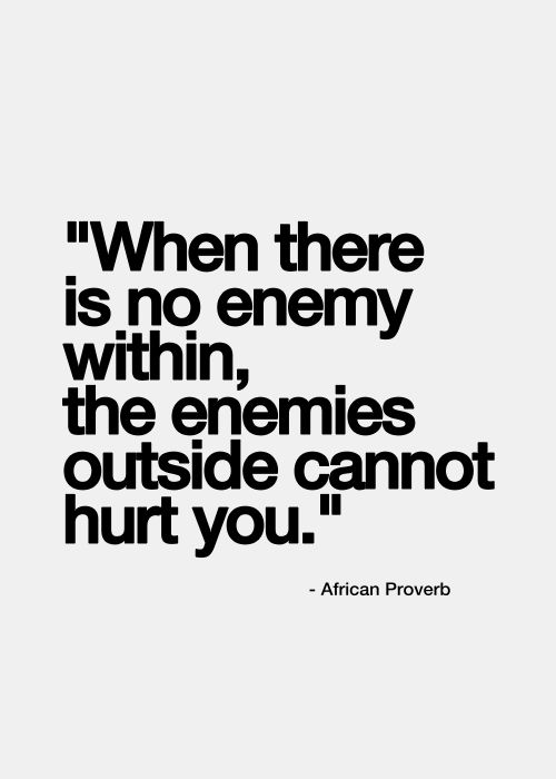 Enemies, African proverb and Proverbs on Pinterest