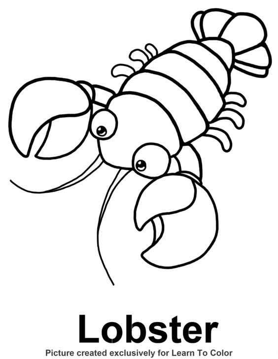 Coloring pages, Lobsters and Coloring on Pinterest