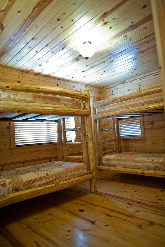 Parks Cabin bunk beds and The ojays on Pinterest