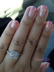 gel glitter gradient nails beauty makeup