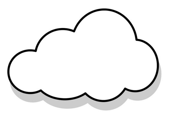 Cloud, Coloring pages and Colouring pages on Pinterest