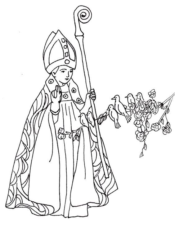 St Valentine Catholic Coloring Page. Feast day is February
