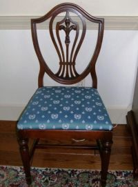 Antique dining room chair reupholstered - love the back on ...