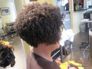 dominican blowout short hair