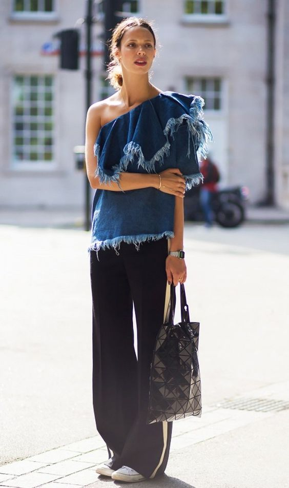 Denim Top + Trousers: