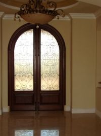 arched french doors interior | ARCHED WOOD DOORS ...