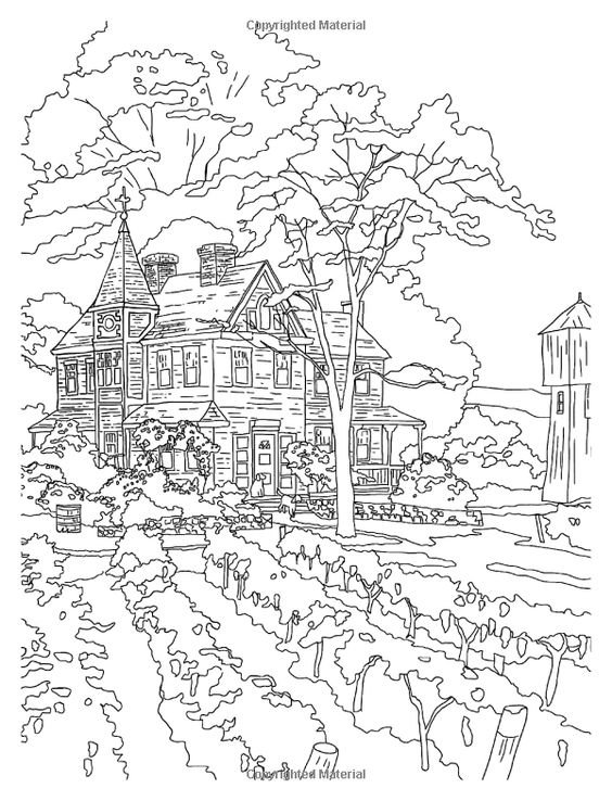 Amazon.com: Posh Adult Coloring Book: Thomas Kinkade