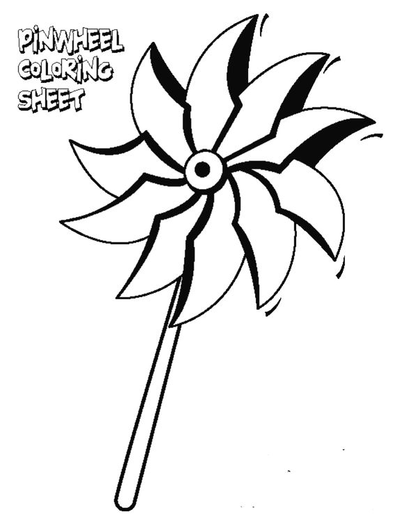 Color a pinwheel with your child. Support Prevent Child