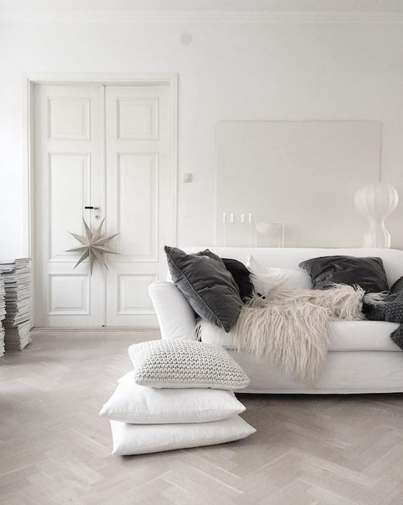 Dreaming of a white Christmas in a Swedish home: