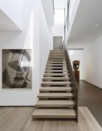 Staircase gallery + skylight. House in Belgium by Marc
