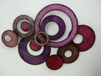 Modern Metal Wall Art | Contemporary Metal Wall Art Pink ...