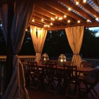 Our deck with pergola and drapes and lights | For the Home ...
