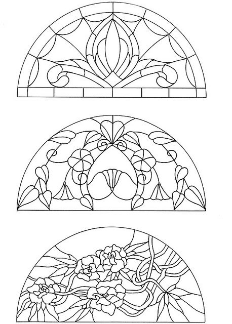 are these art deco or art nouveau stained glass? nice idea