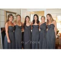 charcoal bridesmaid dresses | wedding ideas | Pinterest ...