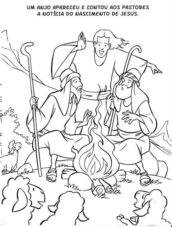 De herders / NASCIMENTO DE JESUS_LIVRO PARA COLORIR