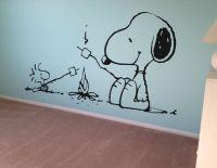 Snoopy Peanuts Wall Decal Vinyl Wall Decor Kids Wall Art ...