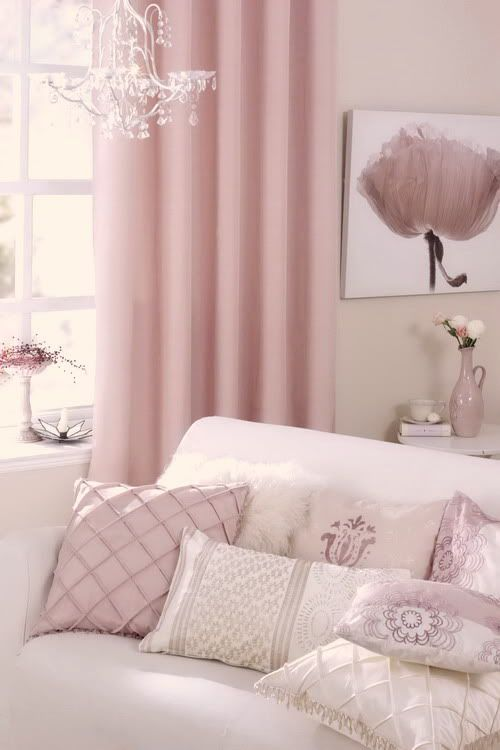 Light pink bedrooms Beige walls and Vintage shabby chic on Pinterest