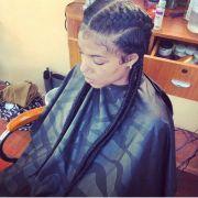 jumbo cornrows hair