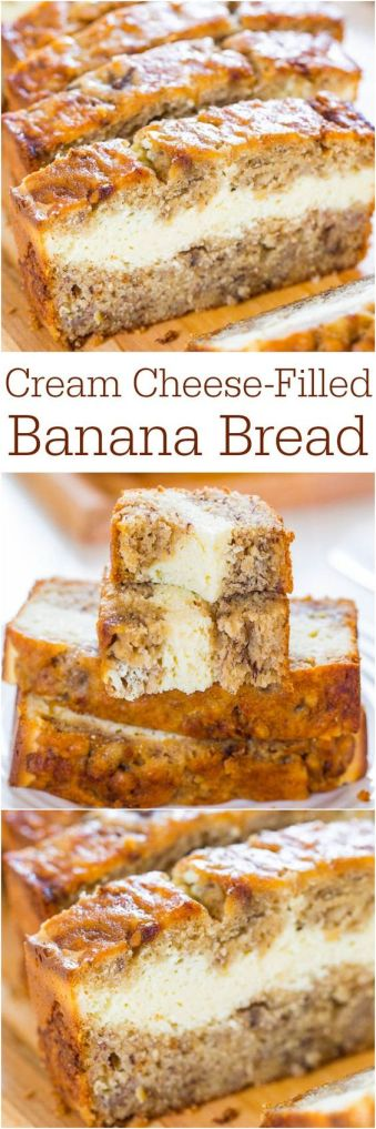 Cream Cheese-Filled Banana Bread - 5 Wonderfully Moist Banana Bread Recipes
