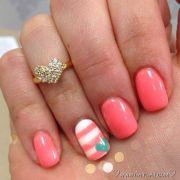 super cute and easy gel nail art