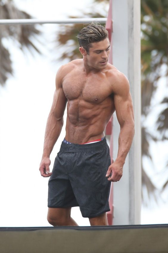 Zac Efron Filming Baywatch Movie In Miami Florida March