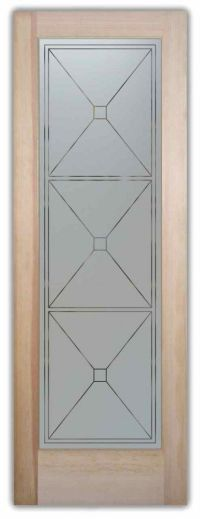 Geometric designs, Etched glass and Pantry doors on Pinterest