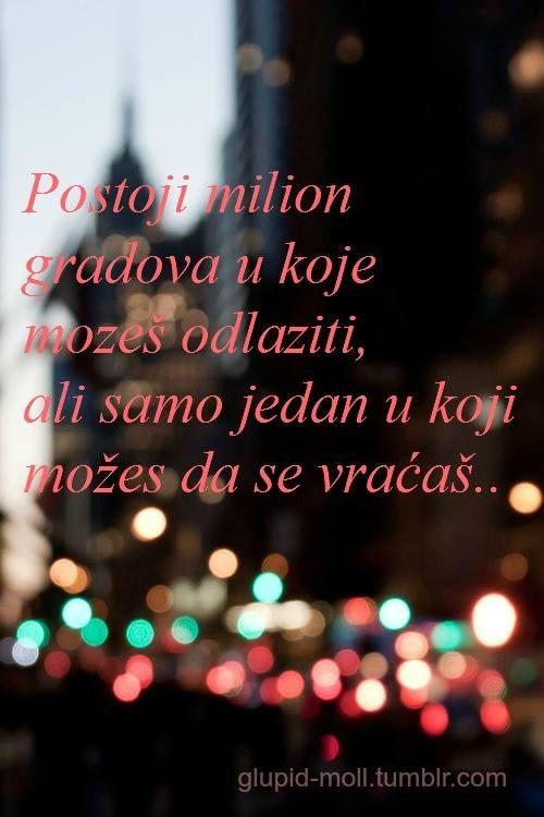 Postoji milion gradova   Balkanske mudrolije  Pinterest