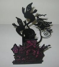 PartyLite Retired Halloween Ghostly House Wall Sconce ...