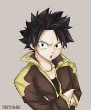 natsu with black hair 's kind