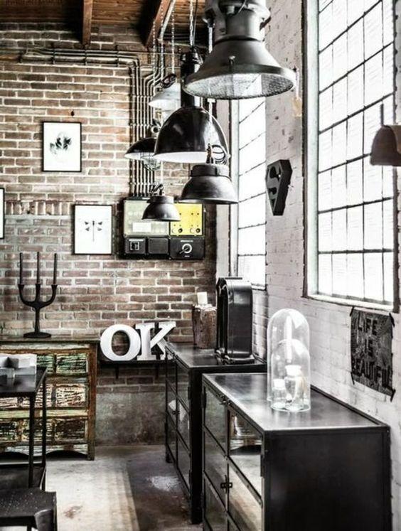 Schon Ideen Gardinen Wohnzimmer Industrial Design Möbel Für Mehr Stil In Ihrem ...