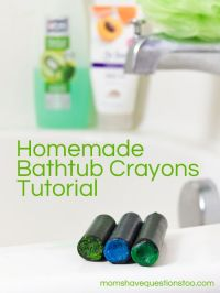 How to make your own bathtub crayons! So simple and your ...