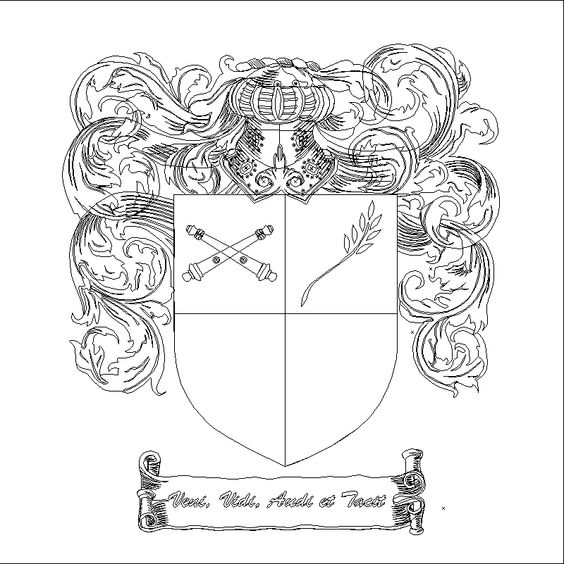 an coat of arms outline example found via Google search