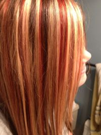 How Should I Highlight My Hair | i love the red highlights ...