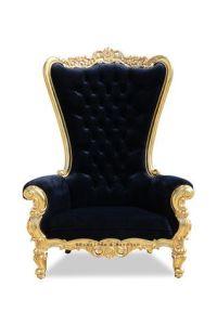Grand Absolom Roche Chair - Gold & Black Velvet | Baroque ...