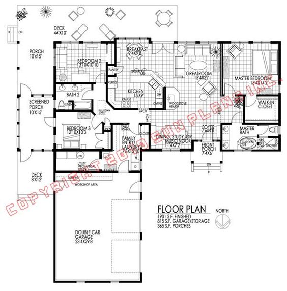 House plans, Bedrooms and Home on Pinterest