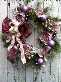 Christmas Victorian Wreath - Elegant Purple Wreath for ...