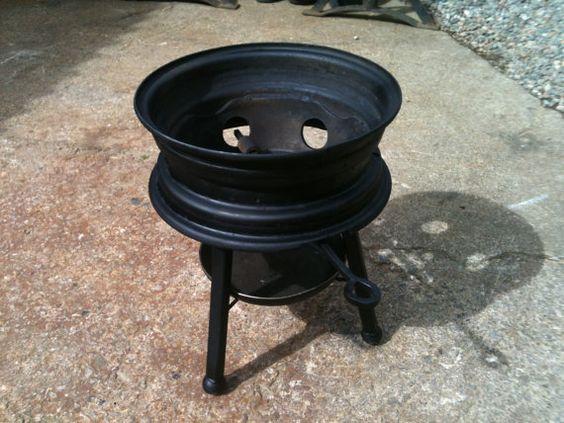 Vehicle Wheel Garden Wood Burner Bbq Built To Last On