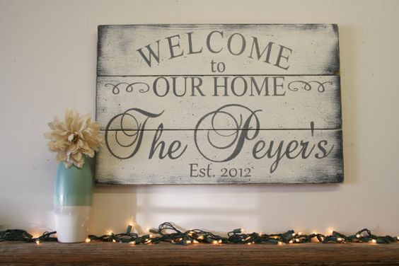 Welcome To Our Home Wood Sign Pallet Sign Wood By
