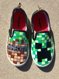 Minecraft Shoes (Etsy shop HeartFeltFeet ) | Cool Shoes ...