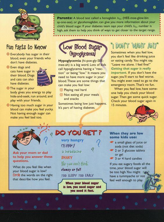 Page One Of Diabetes For Kids Brochure Diabetes Too