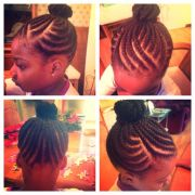 kid natural hair style - flat twists
