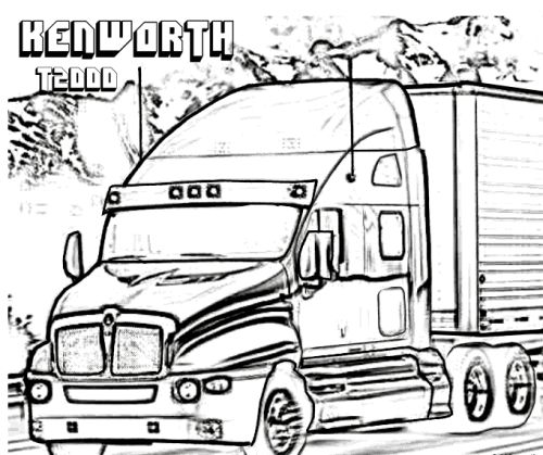 Coloring, Trucks and Coloring pages on Pinterest